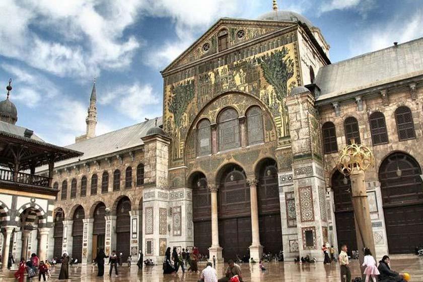 مسجد اموي دمشق و محل استقرار اسراء كربلاء در حضور یزید